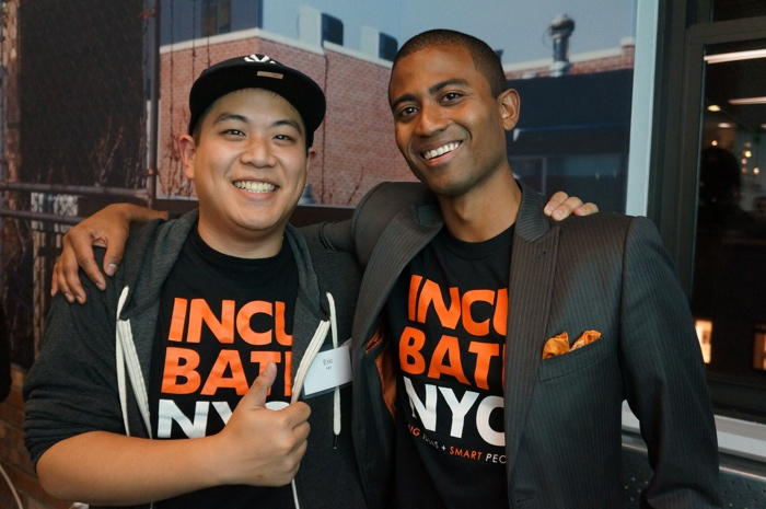 Brian Shields and Eric Ho at IncubteNYC's launch