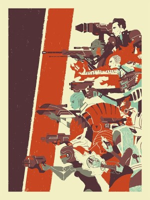"EA Store Mass Effect 3 ""No One Left Behind"" screenprint poster"