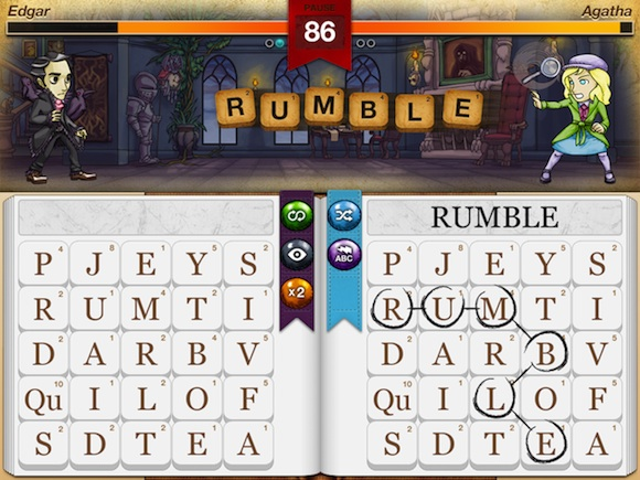 Writer Rumble iPad