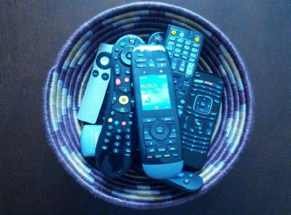 Basketful of remotes