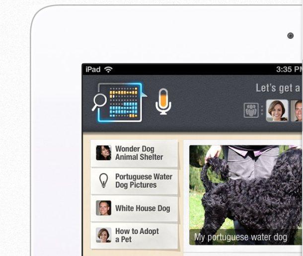The MindMeld app on iPad