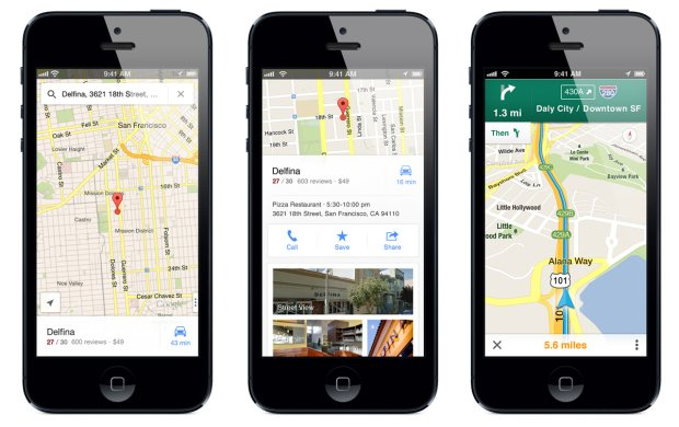 google maps iphone app