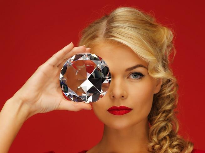 woman diamond