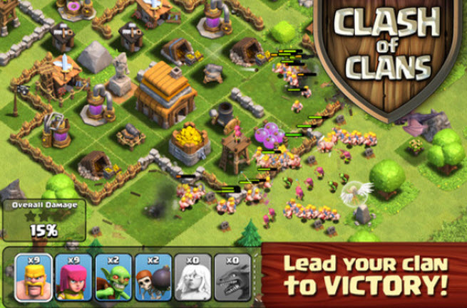 Clash of Clans for mobile devices.