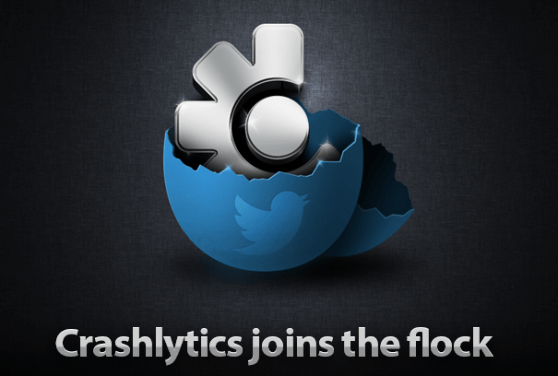 Promotional image announcing Twitter's acquisition of Crashlytics
