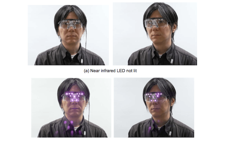 LED privacy glasses
