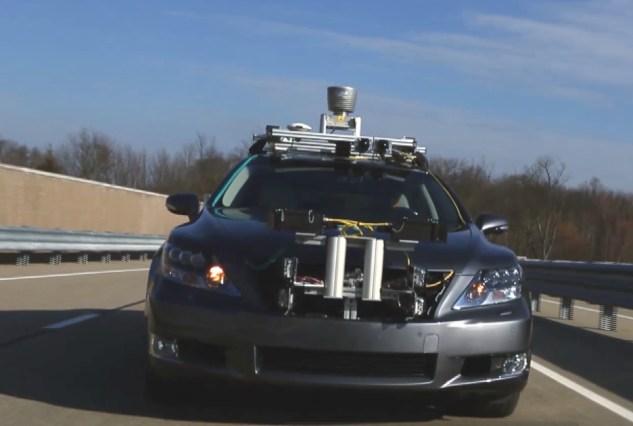 Lexus self-driving car