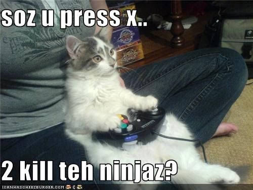 Press X to kill ninjaz