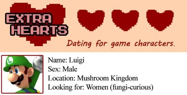 Extra Hearts: Luigi profile
