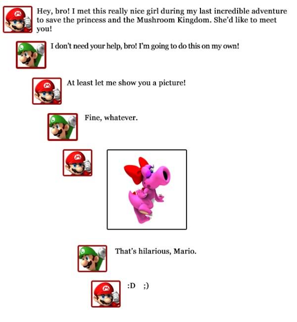 Extra Hearts: Luigi -- Mario comments