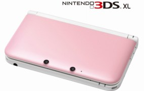 Nintendo 3DS XL pink white