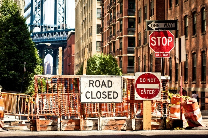 road closed shutterstock