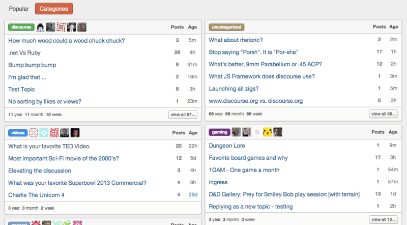 Discourse, a new Internet forum template