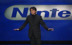 Nintendo president Satoru Iwata at a media event.
