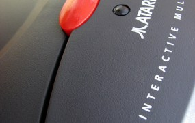 Atari Jaguar console close up
