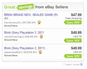 Brink on eBay
