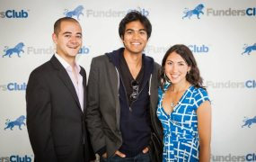 Boris Silver, Alex Mittal, and Felicia Curcuru of FundersClub.
