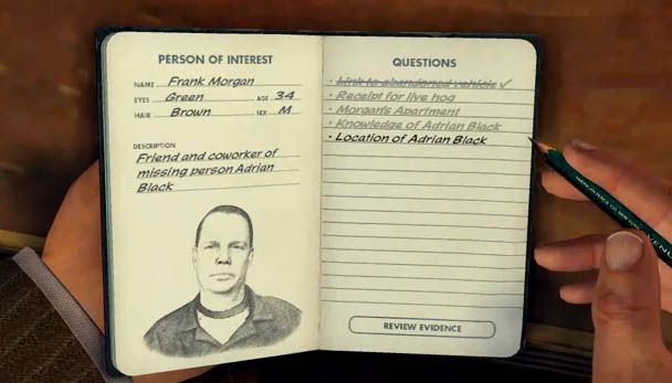 LA Noire Notebook