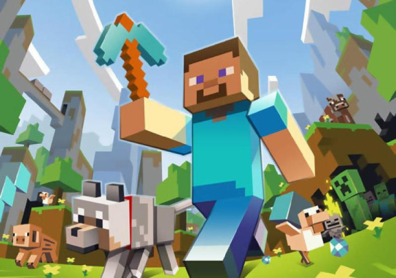 The block-building game Minecraft.