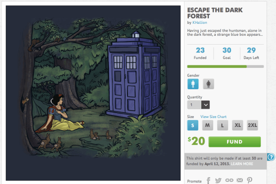 Yup, a Kickstarter for t-shirts