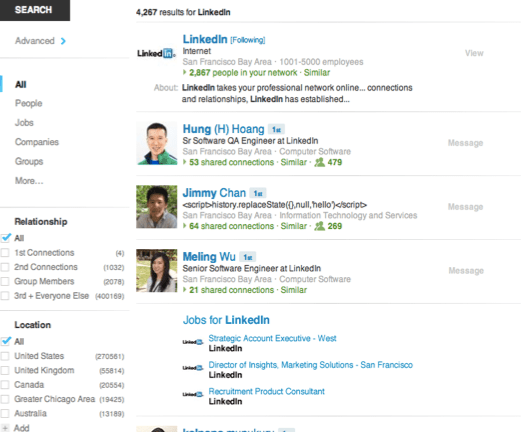 LinkedIn Unified Search