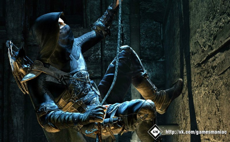 Thief rappelling like a boss