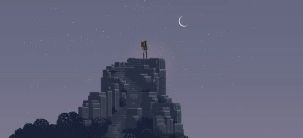Screen cap from Canadian development group Superbrothers stunning Sword & Sworcery: EP