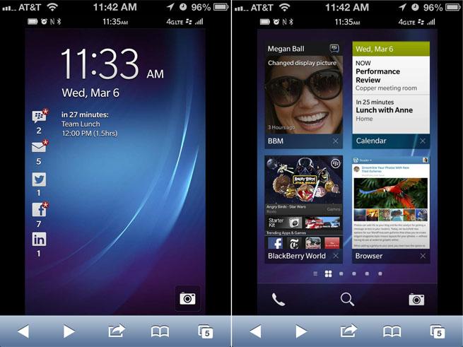 blackberry 10 on iphone