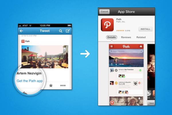 Twitter app integration