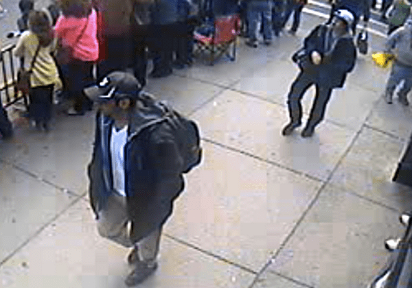 Photo of two suspects in the Boston Marathon bombing case, released by the FBI