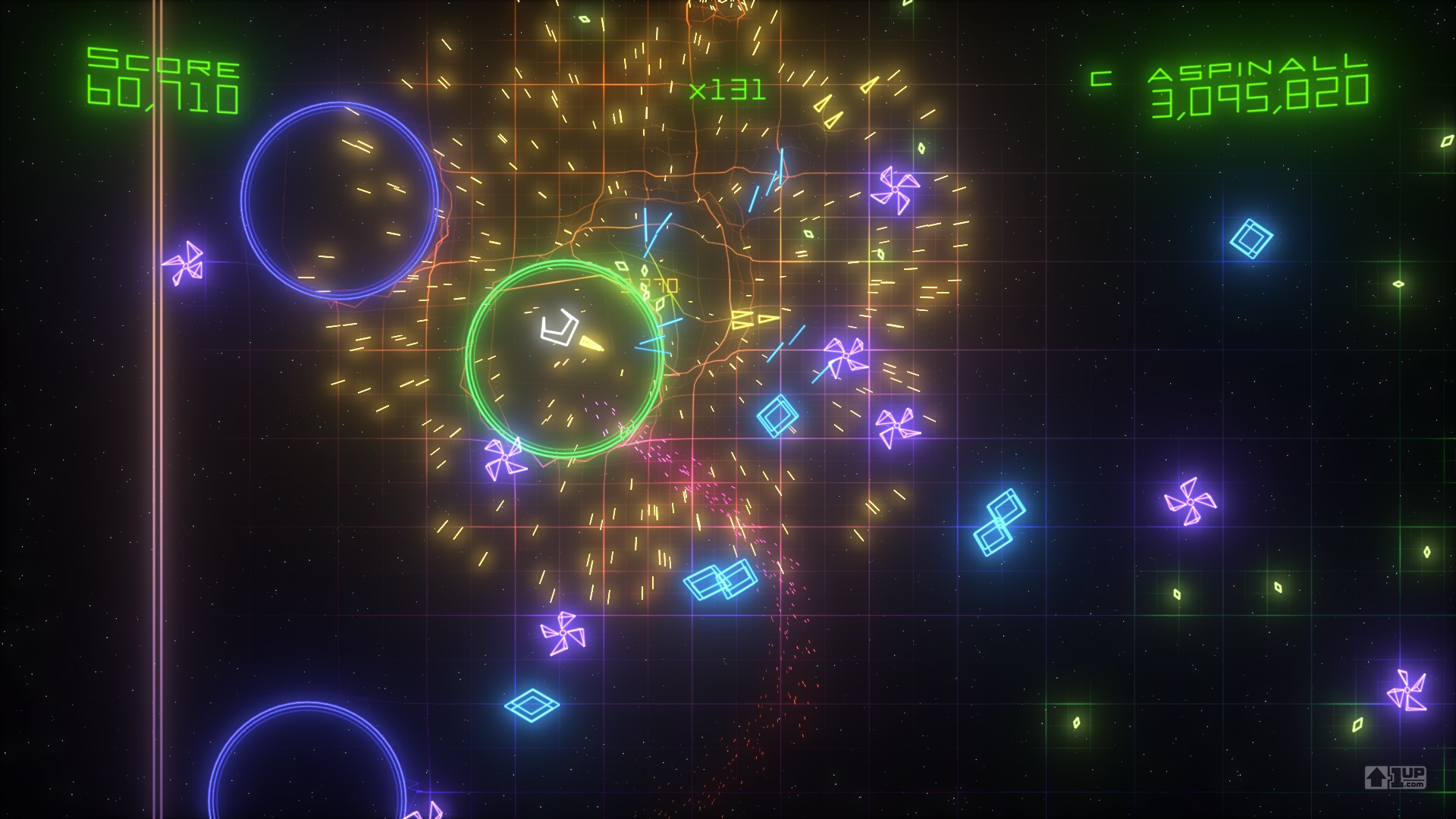 Geometry Wars 2 in action.