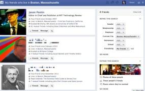 friends in Boston - Facebook graph search