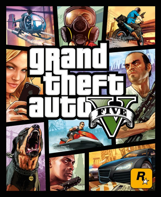 Rockstart Games GTAV box cover