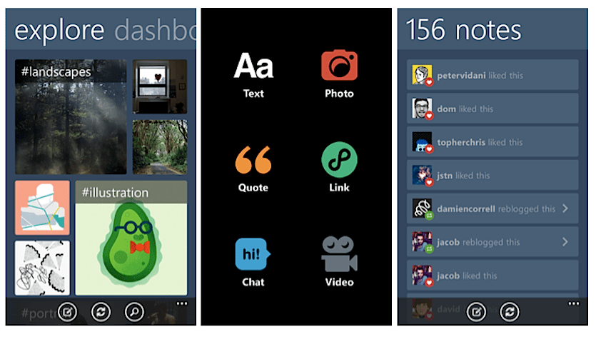 Tumblr Windows Phone 8