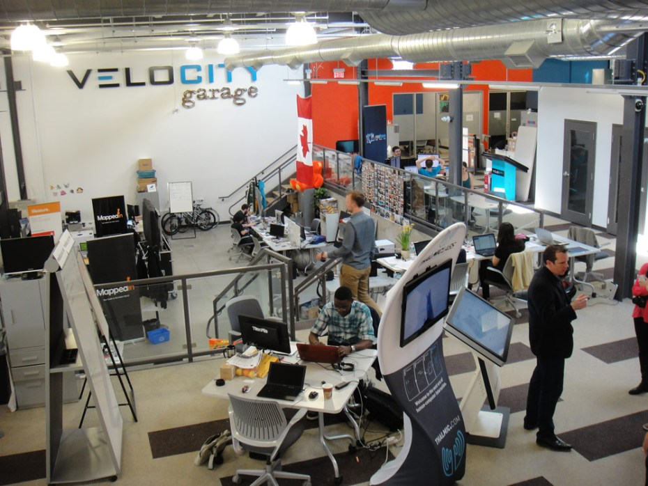 University of Waterloo students build startups at Velocity Garage, a in-house accelerator-like program.