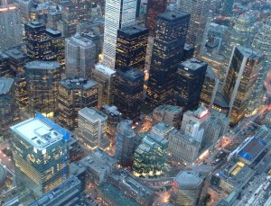 A view of downtown Toronto from the CN Tower