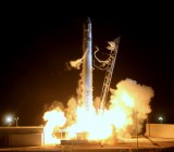 SpaceX's Falcon 9 rocket lifts off.