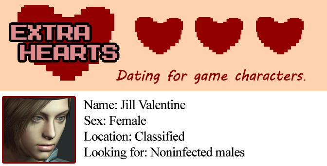 Extra Hearts: Jill Valentine profile