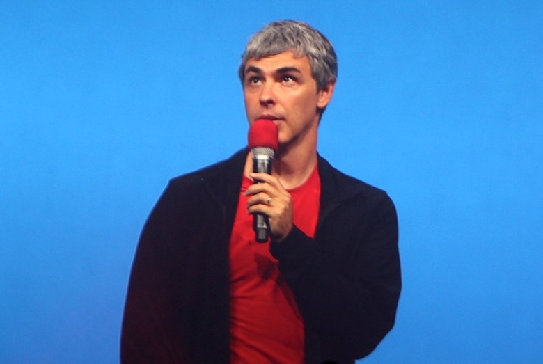 Google CEO Larry Page looks to the sky