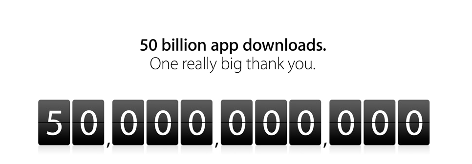 50 billion apps