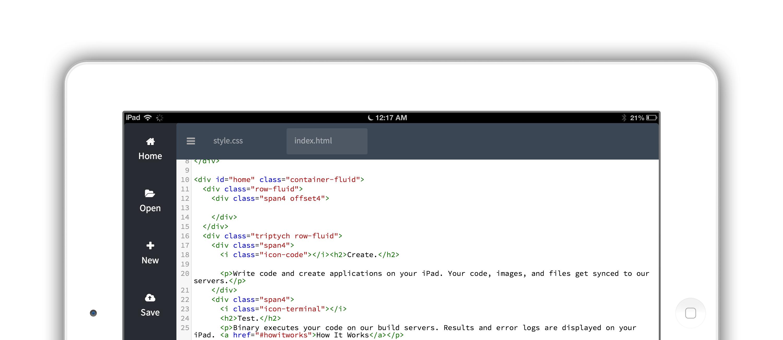 binary ipad