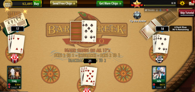 Blackjack Casino is a rising hit for Bee Cave Games.