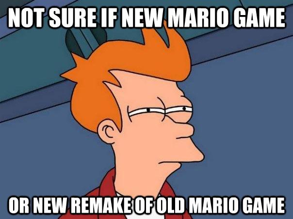 Confused Fry - Mario