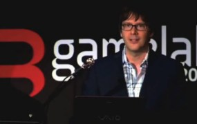 Mark Cerny gives a PS 4 speech in Barcelona.