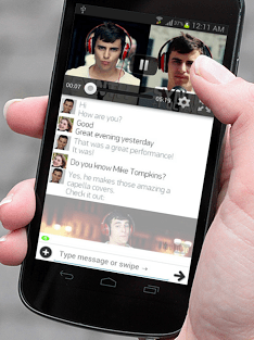 With Invi, you can watch YouTube while texting