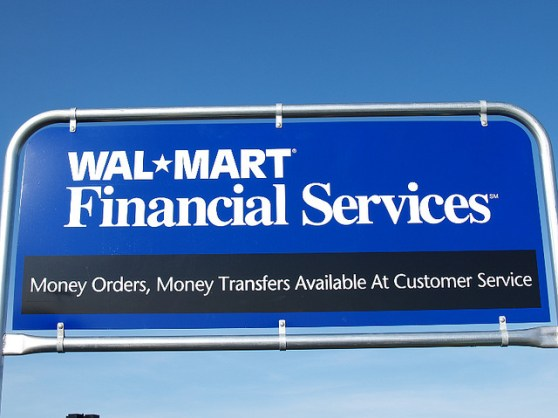 Walmart financial services sign