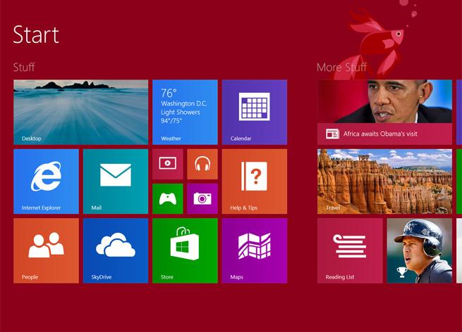 The Start Screen in Windows 8.1