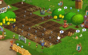 Zynga's FarmVille game in action.