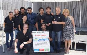 The Bidgely team at the Plug and Play accelerator.