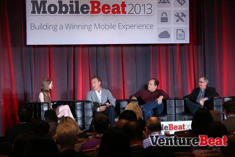 VentureBeat's Meghan Kelly, Shazam's Rich Riley, eBay's Dane Glasgow, Urban Airship's Brent Hieggelke